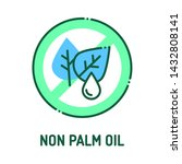 non palm oil color line icon....