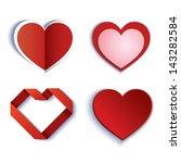 set of symbol heart | Shutterstock .eps vector #143282584