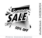 summer ad sale text in pop art... | Shutterstock .eps vector #1432826924