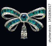 vector antique bow brooch... | Shutterstock .eps vector #1432836317