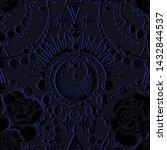 vector illustration  moon... | Shutterstock .eps vector #1432844537