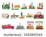 farm activities vector ...   Shutterstock .eps vector #1432845164