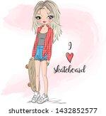 hand drawn beautiful  cute... | Shutterstock .eps vector #1432852577