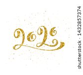 happy new year 2020 poster with ... | Shutterstock .eps vector #1432857374