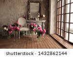 Vintage Armchair Decorated Wit...