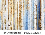 background of peeling paint and ... | Shutterstock . vector #1432863284