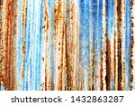 background of peeling paint and ... | Shutterstock . vector #1432863287