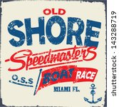 nautical design sailor vector... | Shutterstock .eps vector #143288719