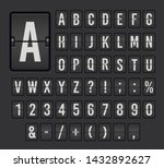 flip board font set  mechanical ... | Shutterstock .eps vector #1432892627
