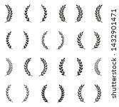 black and white award wreaths.... | Shutterstock .eps vector #1432901471