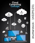 cloud computing concept vector... | Shutterstock .eps vector #143291251