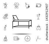 spa bed outline icon. detailed...