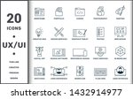 design ui and ux set icons...