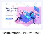 isometric concept smartphone... | Shutterstock .eps vector #1432948751