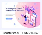isometric concept publish your... | Shutterstock .eps vector #1432948757