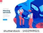 moving service isometric vector ...   Shutterstock .eps vector #1432949021