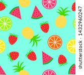 summer seamless pattern with... | Shutterstock .eps vector #1432960247