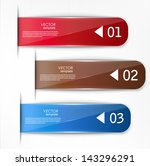 set of bookmarks  stickers ... | Shutterstock .eps vector #143296291