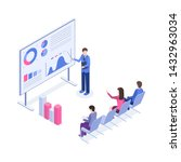 business presentation isometric ... | Shutterstock .eps vector #1432963034
