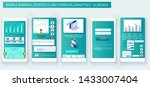 mobile app design. banking ... | Shutterstock .eps vector #1433007404