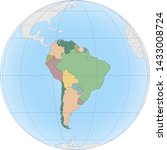 south america continent is... | Shutterstock .eps vector #1433008724