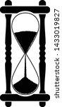 black hourglass vector icon.... | Shutterstock .eps vector #1433019827