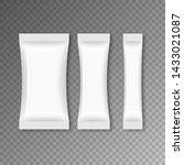 blank flow packaging food.... | Shutterstock .eps vector #1433021087