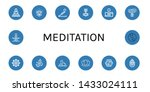 set of meditation icons such as ... | Shutterstock .eps vector #1433024111