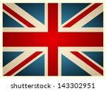 vintage british flag. vector... | Shutterstock .eps vector #143302951