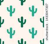 seamless pattern with cactus in ... | Shutterstock .eps vector #1433047307