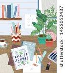 back to school cute vector... | Shutterstock .eps vector #1433052437