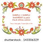 vintage flowers frame 2 | Shutterstock .eps vector #143306329