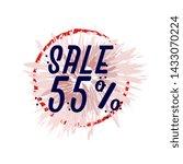 sale 55   beautiful greeting... | Shutterstock .eps vector #1433070224
