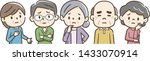 the elderly people who were in... | Shutterstock .eps vector #1433070914