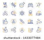 chemistry lab line icons.... | Shutterstock .eps vector #1433077484