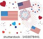 pattern 4th of july happy... | Shutterstock .eps vector #1433078441