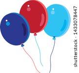 balloons birthday 4th of july... | Shutterstock .eps vector #1433078447