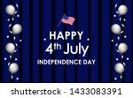 happy 4th of july. usa... | Shutterstock .eps vector #1433083391