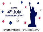 happy 4th of july. usa... | Shutterstock .eps vector #1433083397
