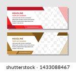 abstract geometric horizontal... | Shutterstock .eps vector #1433088467