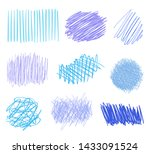 colored hatching shapes with... | Shutterstock .eps vector #1433091524