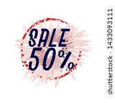 sale 50   beautiful greeting... | Shutterstock .eps vector #1433093111