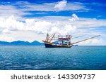 Fishing Ship In Andaman Sea...