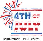 4th of july brushed banner... | Shutterstock . vector #1433105894