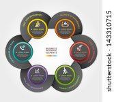 modern arrow circle business... | Shutterstock .eps vector #143310715