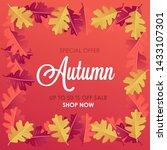 autumn sale background layout... | Shutterstock .eps vector #1433107301
