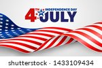 4th of july poster template.usa ... | Shutterstock .eps vector #1433109434
