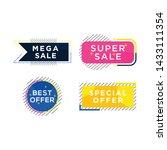 colorful memphis sale banner... | Shutterstock .eps vector #1433111354