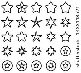 set of star icon. black rating...