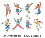 people are jumping with... | Shutterstock .eps vector #1433120831